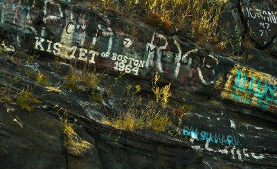 Graffiti, Tagus Cove, Isabela Island, The Galapagos, Ecuador, 2012