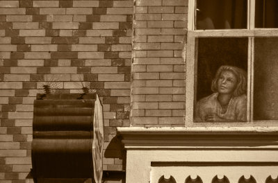 The woman in the window, Venice Beach, California, 2012