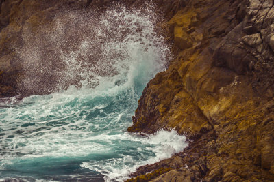 The crash of surf, Point Lobos State Natural Reserve, Carmel, California, 2012