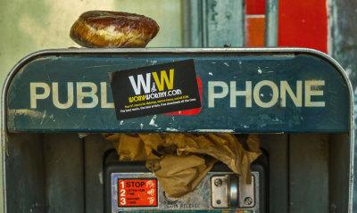 Pay phone, Hollywood, California, 2012