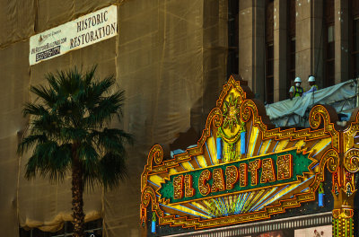 Restoring the El Capitan, Hollywood, California, 2012