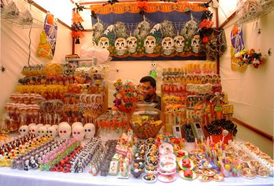 Day of The Dead Sweets, Plazuela de San Roque, Guanajuato, Mexico, 2005