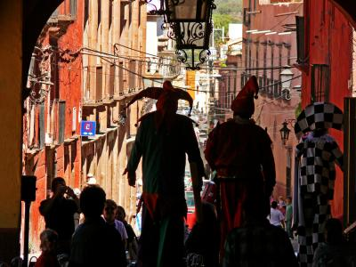 Stilt-walkers on Parade, San Miguel de Allende, Mexico, 2005