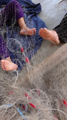 Mending nets, Nha Trang, Vietnam, 2007
