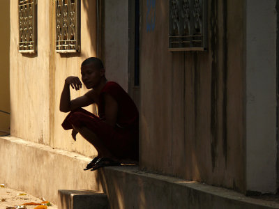 Monk, Phnom Penh, Cambodia, 2008
