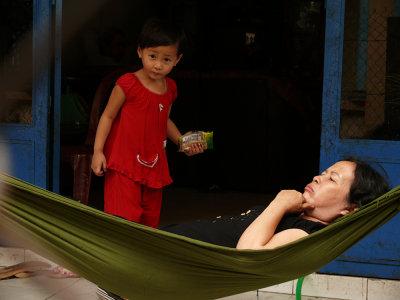 Waking mother? Near Saigon, Vietnam, 2008
