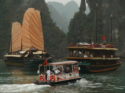 Tourist boats, Halong Bay, Vietnam, 2007