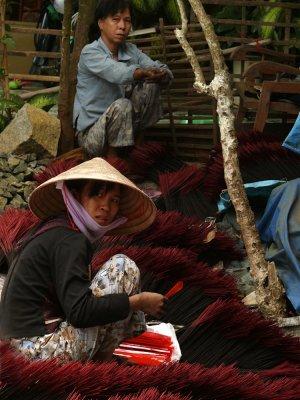 Making incense, Binh Hduc, Vietnam, 2008