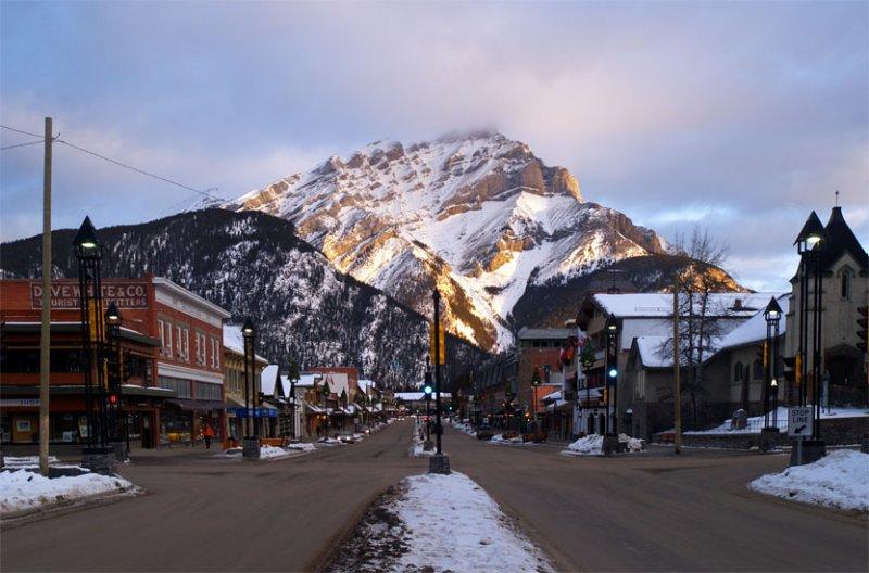 Banff Ave Sunrise
