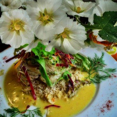 Cod fillet for sophisticated flower…