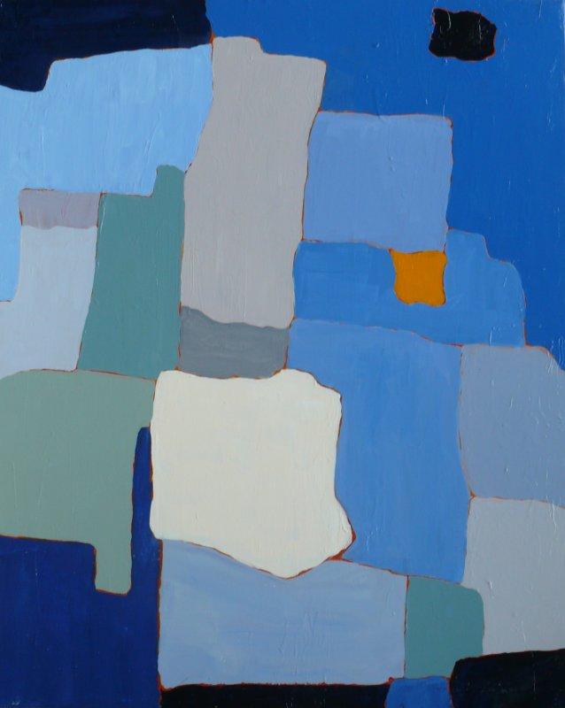 The Orange Square 30x24 acrylic on canvas 2011