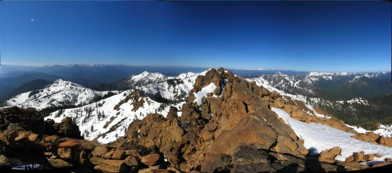 Red Butte Summit Panorama -6739 ft.