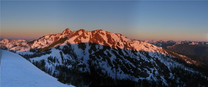 Red Buttes Sunrise Panorama