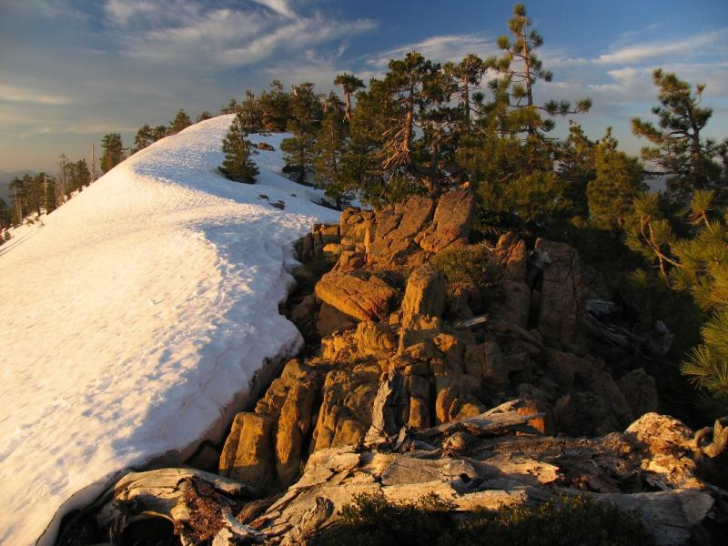 Ridgeline composition at sunset in Red Buttes wilderness