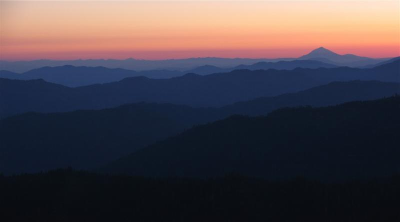 Sunrise layers and valleys