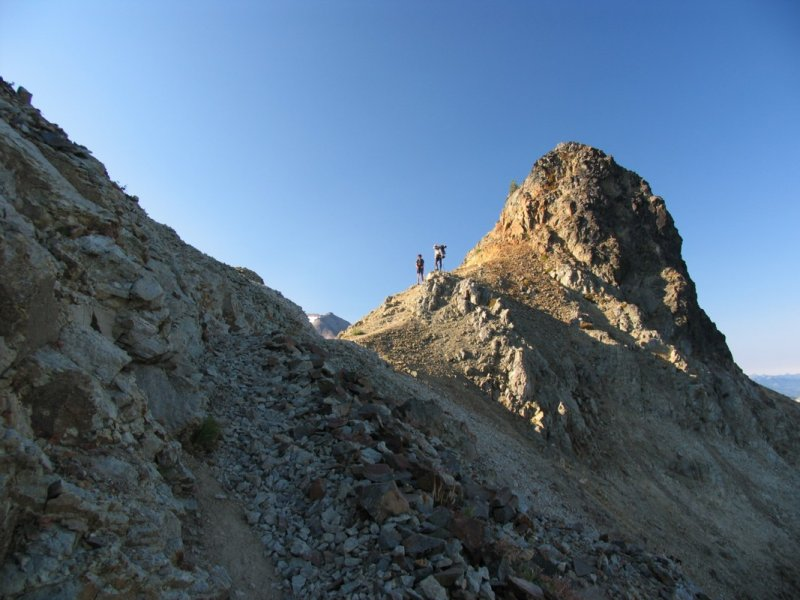 Hikers on Egg Butte