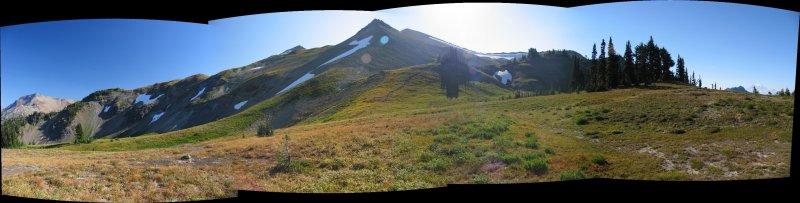 Peak 6768 campsite panorama