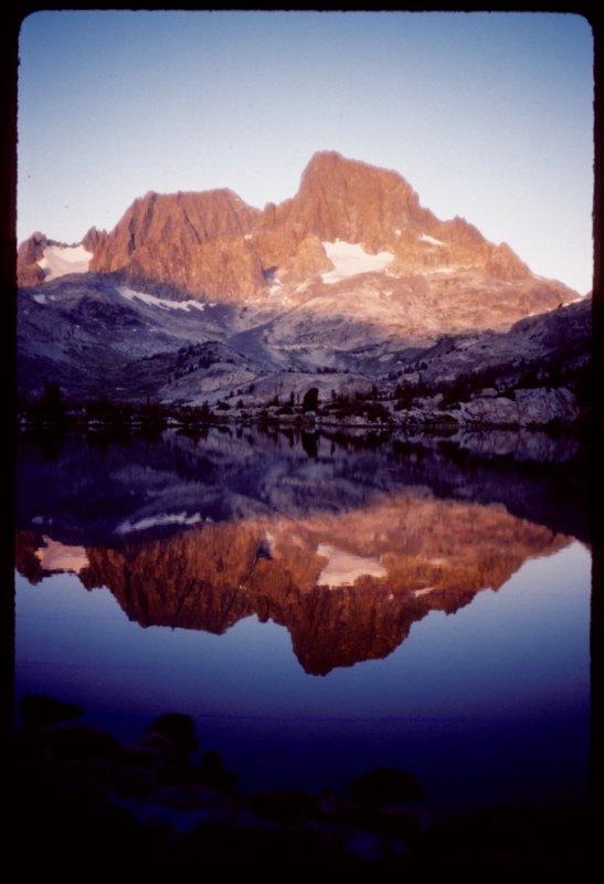 Banner and Ritter Peaks across Garnet Lake