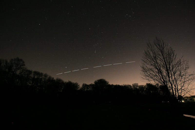 De Bilt, Houdringe: 6 March 2011 - ISS, Orion, Sirius