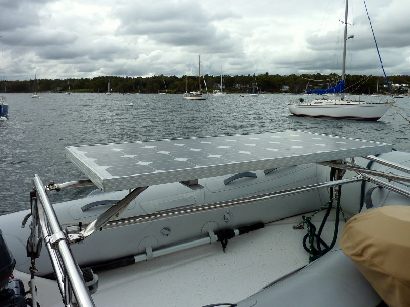 An 80 Watt Panel Mounted To Davits