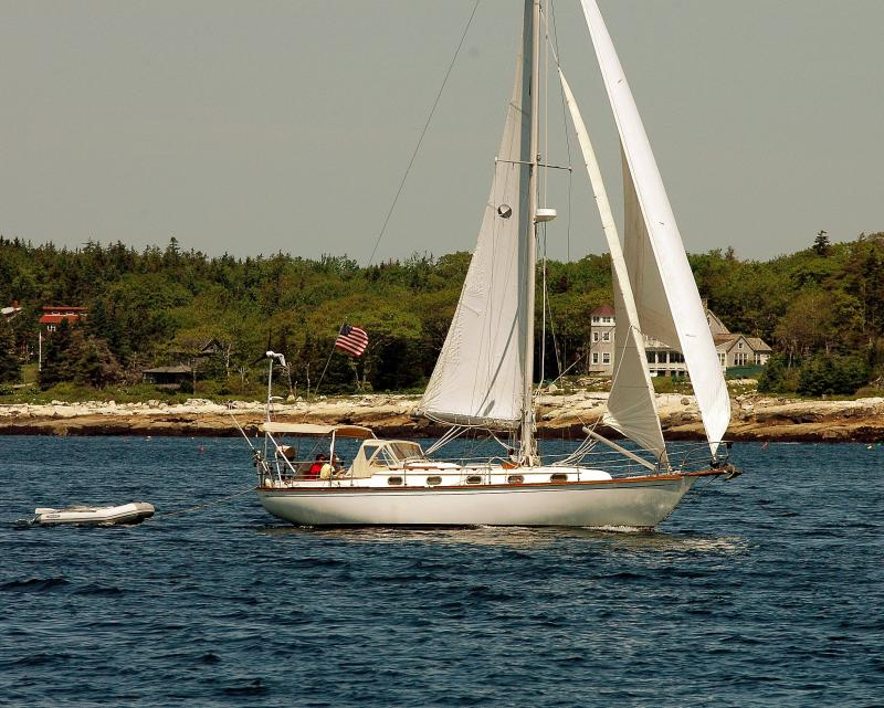 A Cape Dory 36 Off Ocean Point
