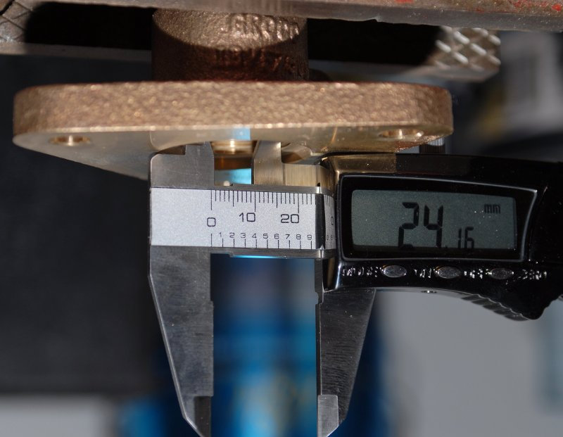 Measuring Inside Diameter of A Flanged Seacock