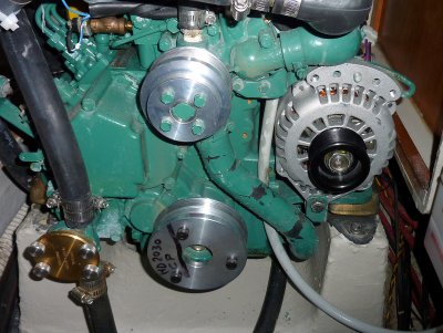 Crank, Pump & Alternator Installed
