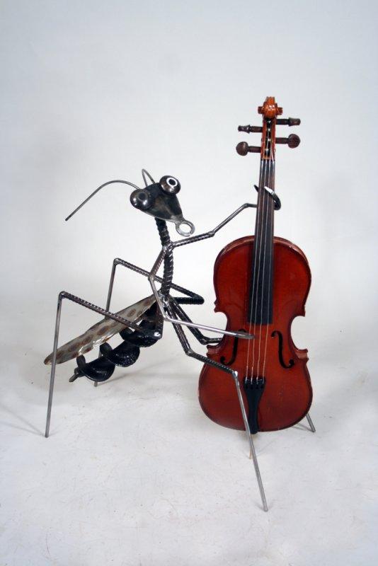 jazz bug on stand-up base