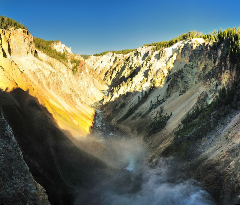 pano CRPD7X6: Lower Yellowstone Falls - from above