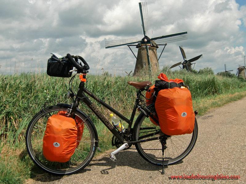 375    Ingrid Touring the Netherlands - Hercules Travel touring bike