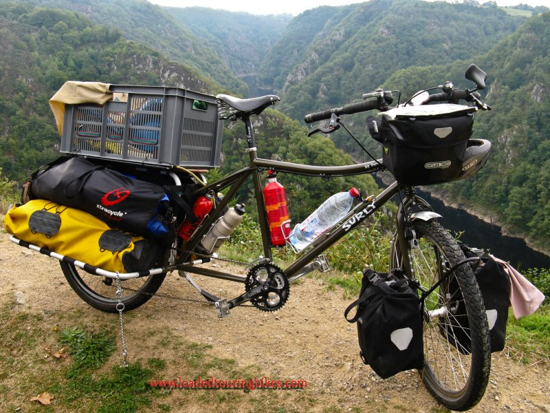 383    Finley touring France - Surly Big Dummy touring bike