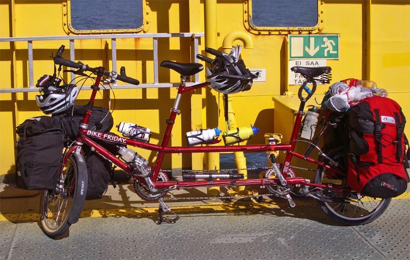 021  Mary & Roy - Touring Finland - Bike Friday Traveler Q touring bike
