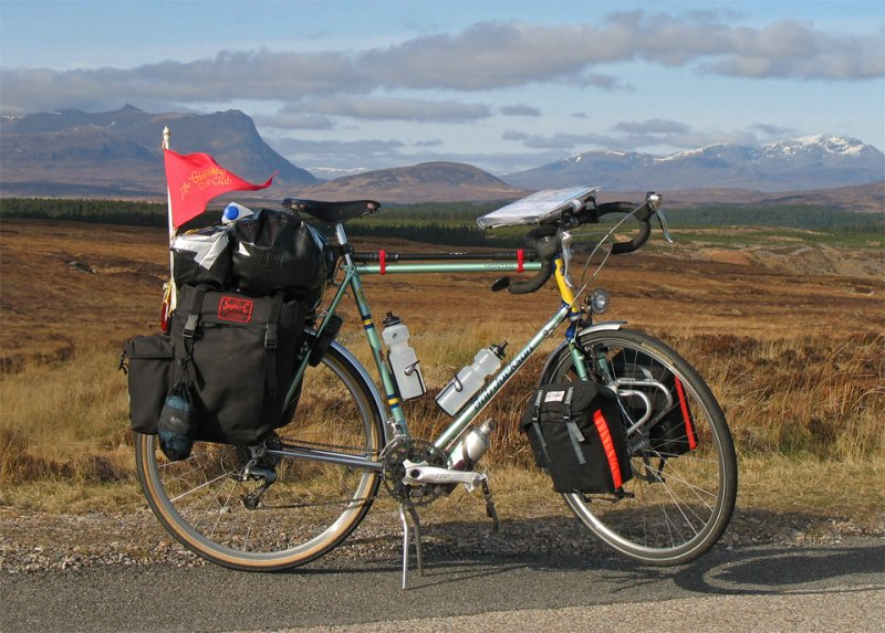082  Charlie - Touring Scotland - Bob Jackson CST touring bike
