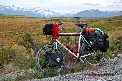 388    Tobias touring New Zealand - Patria Terra touring bike