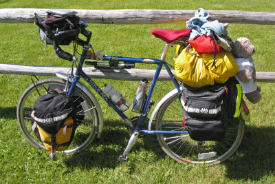 001  Judy - Touring through Montana - Steve Rex Touring touring bike