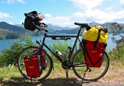 045  Wim - Touring New Zealand - Koga Randonneur touring bike