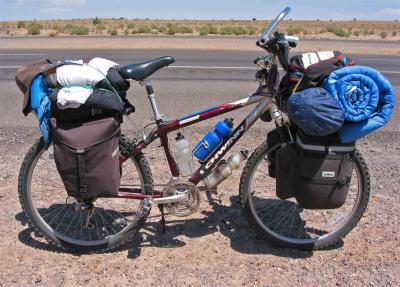 059  Billy - Touring the US - Schwinn Sierra touring bike