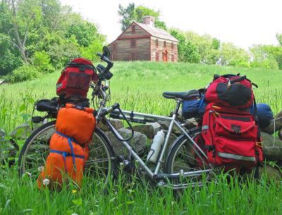 066  Jon - Touring through Massachusetts US - Velotek Touring touring bike