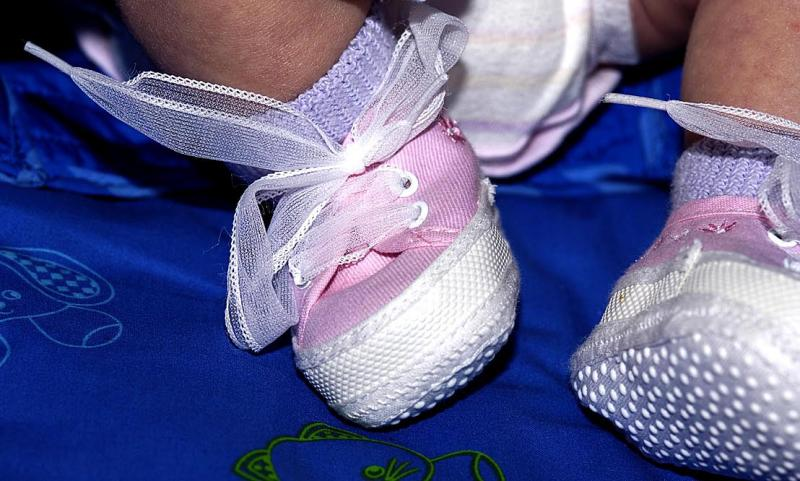 Baby feet in shoes