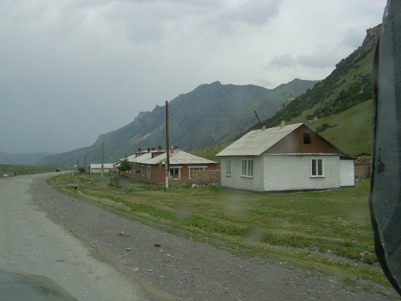 Kyrgyz village near Tajik border