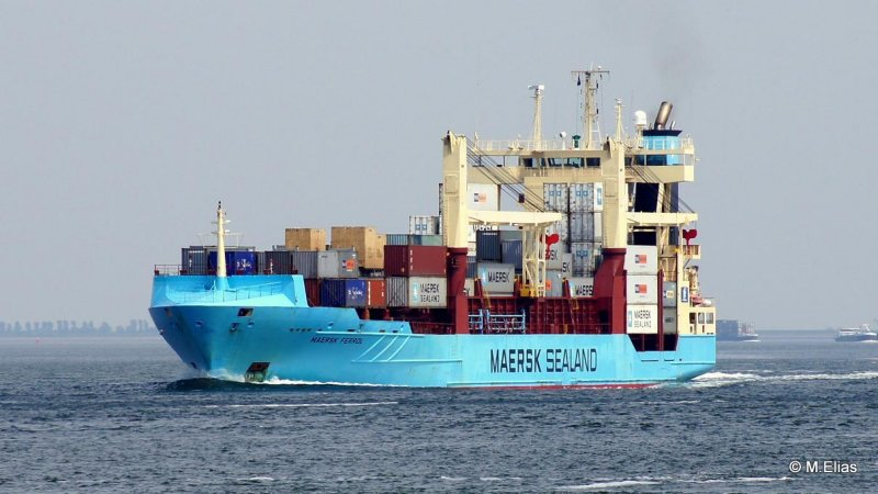 Maersk Ferrol spotted bound for Casablanca.