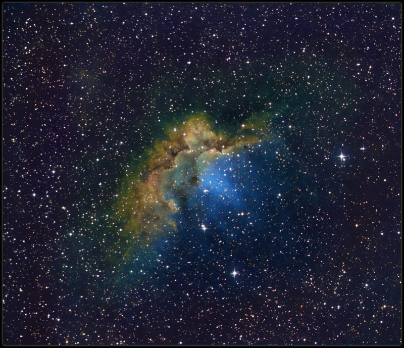 The Wizard nebula - narrowband