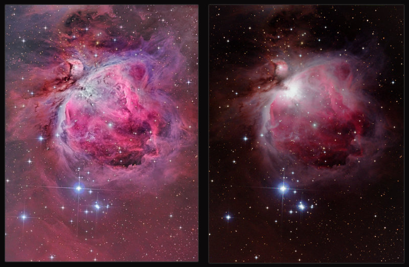 Before and after image processing