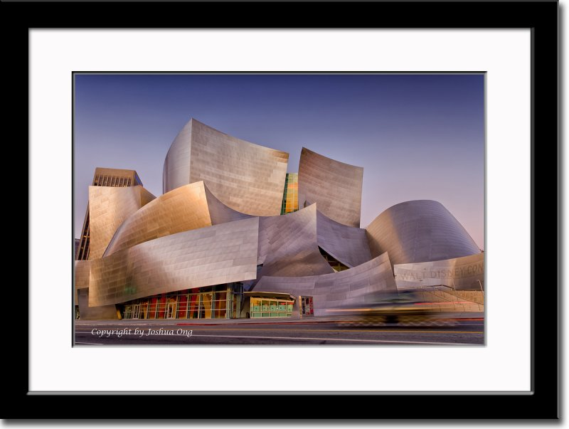 Walt Disney Concert Hall in Early Winter Morning