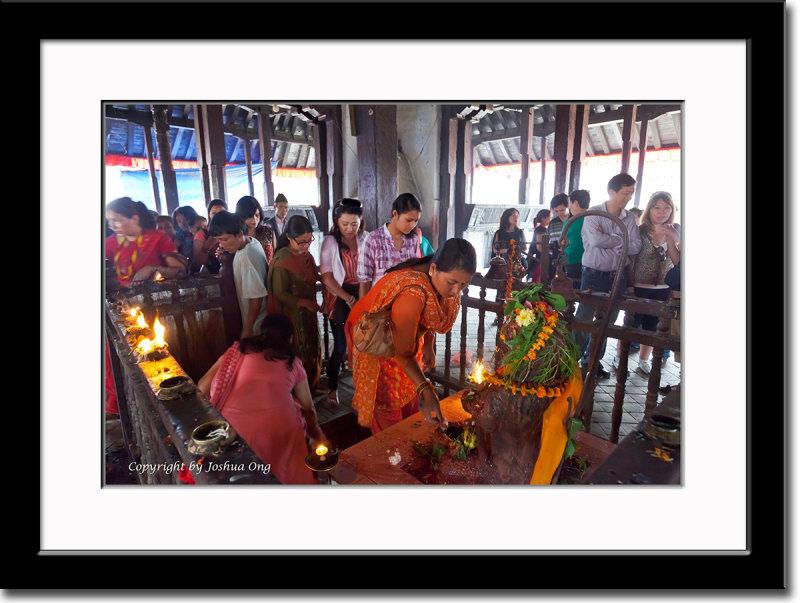 Inside a Temple