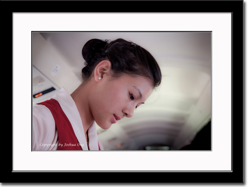 Our Flight Attendant of Agni Air to Lumbini