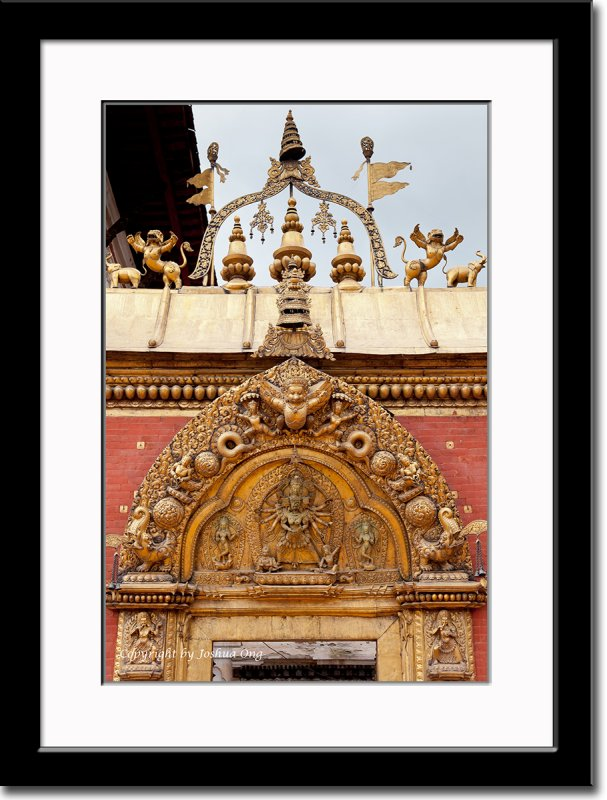 Decoration Above Palace Entrance in Bhaktapur