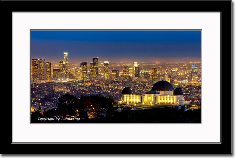 Griffith Observatory and LA Skyline After Sunset