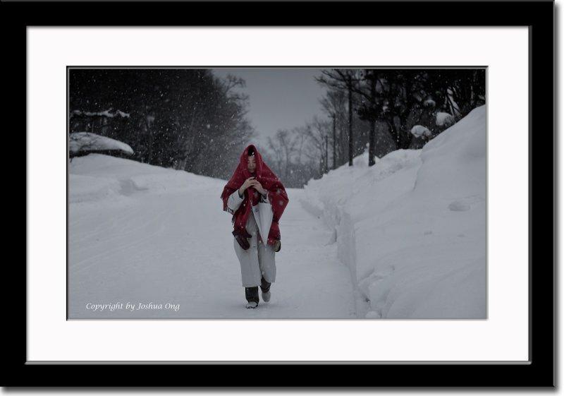 Caught in Snow Storm