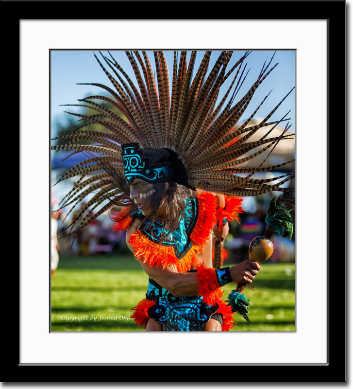 Painted Face Aztec Dancer
